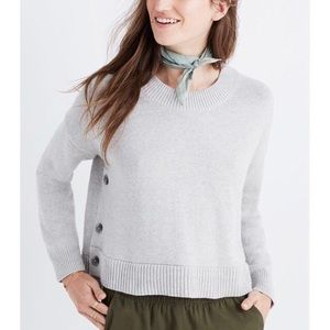 Madewell | Oversized Side Button High Low Sweater